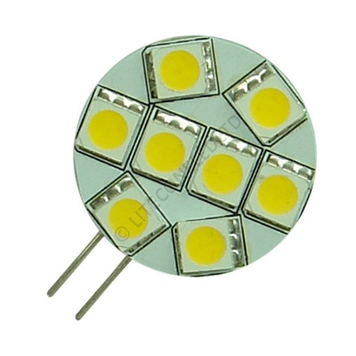 G4 8SMD 10-30 Vdc Side Pin 1.6W Warm White LED Bulb