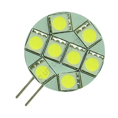 G4 8SMD 10-30 Vdc Side Pin 1.6W Cool White LED Bulb