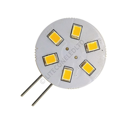 G4 6SMD 10-30 Vdc Side Pin 1.2W Warm White LED Bulb