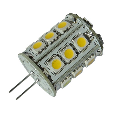 G4 24SMD 10-30 Vdc Tower 4.8W Warm White LED Bulb