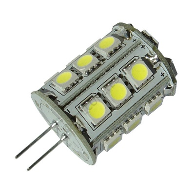 G4 24SMD 10-30 Vdc Tower 4.8W Cool White LED Bulb