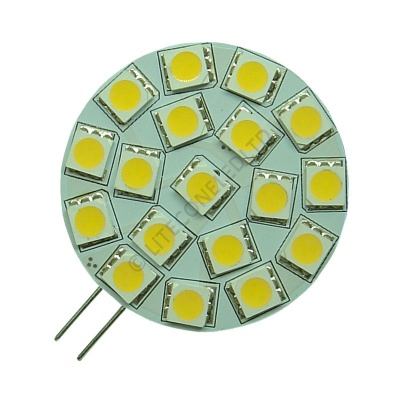 G4 18SMD 10-30 Vdc Side Pin 3.6W Warm White LED Bulb