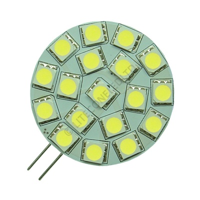 G4 18SMD 10-30 Vdc Side Pin 3.6W Cool White LED Bulb