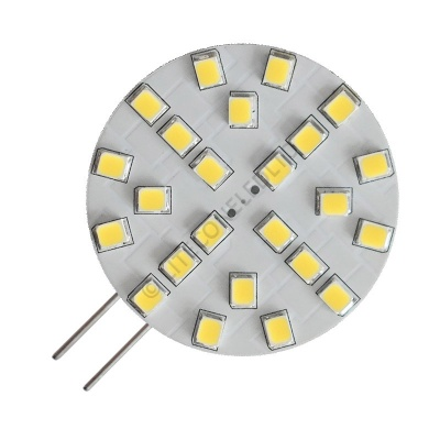 G4 24SMD 10-30 Vdc Side Pin 4.8W Cool White LED Bulb