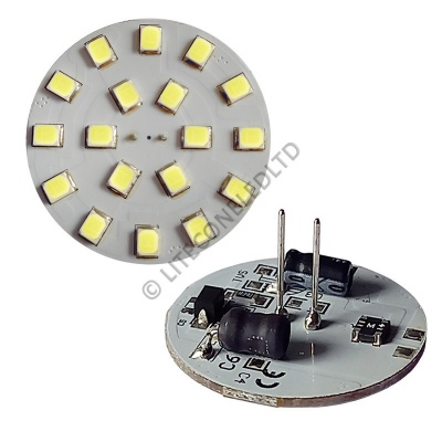 G4 18SMD 10-30 Vdc Back Pin 3.6W Cool White LED Bulb