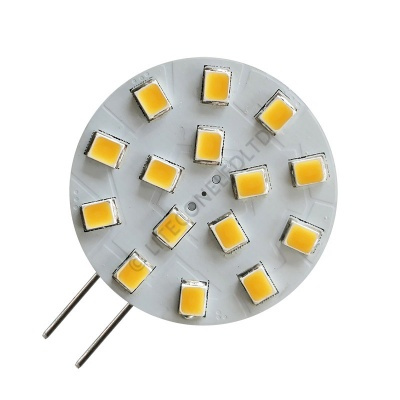 G4 15SMD 10-30 Vdc Side Pin 3.0W Warm White LED Bulb
