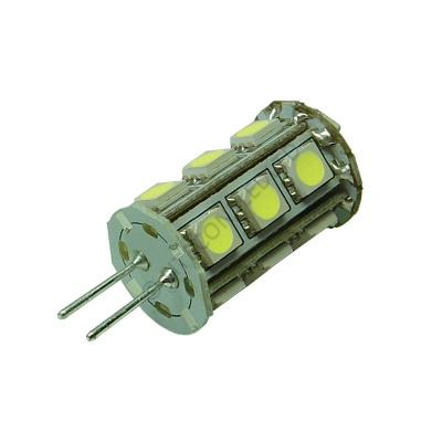 G4 18SMD 10-30 Vdc Tower 3.6W Cool White LED Bulb