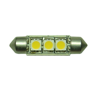 Festoon 37mm 3SMD 5050 10-30v DC 0.6W Warm White