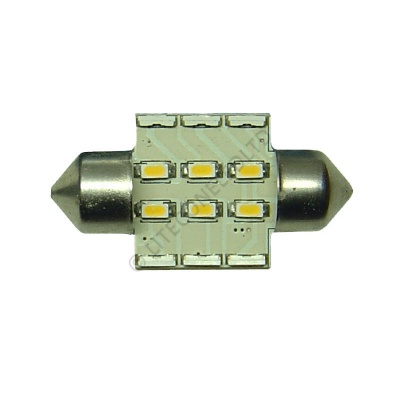 Festoon 31mm 12SMD 10-30v DC 0.7W Warm White