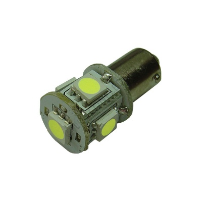 BA9s 5SMD 10-30 Vdc 1W Cool White LED Bulb
