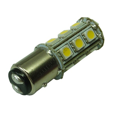 BAY15D 18SMD 10-30V DC Tower 3.6W Warm White LED Bulb
