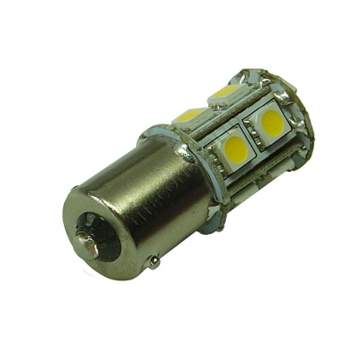 BA15S 13SMD 10-30V DC Tower 2.6W Warm White LED Bulb
