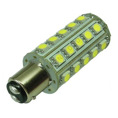 BA15D 30SMD 10-30V DC Tower 6W Cool White LED Bulb