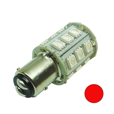 BAY15D 24SMD 10-30V DC Tower 2.5W Red