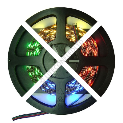 12V DC 7.2W / Metre 5050 IP20 RGB LED Flex Strip
