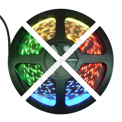 12V DC 14.4W / Metre 5050 IP65 RGB LED Flex Strip