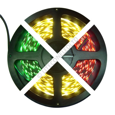 12V DC 14.4W / Metre 5050 IP65 RGBW LED Flex Strip