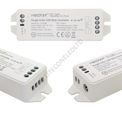 4 Zone RF Single Channel Dimmer Controller 12-24Vdc 2x6A (10A Max)