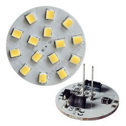 G4 15SMD 10-30 Vdc Back Pin 2.3W Cool White LED Bulb