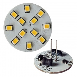 G4 12SMD 10-30 Vdc Back Pin 2.4W Warm White LED Bulb