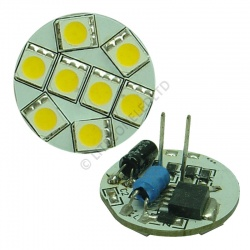 G4 8SMD 10-30 Vdc Back Pin 1.6W Warm White LED Bulb
