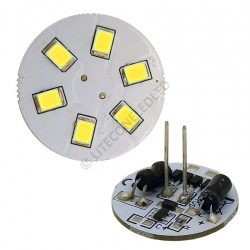 G4 6SMD 10-30 Vdc Back Pin 1.2W Cool White LED Bulb