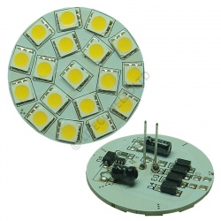 G4 18SMD 10-30 Vdc Back Pin 3.6W Warm White LED Bulb