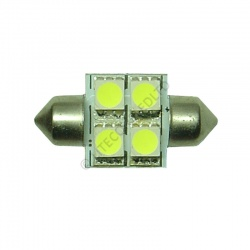 Festoon 31mm 4SMD 5050 10-30v DC 0.8W Cool White