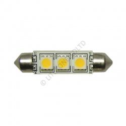 Festoon 37mm 9SMD 12v 24v 10-30v DC 1.8W Warm White LED Bulb Caravan Boat 0919
