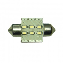 Festoon 31mm 12SMD 10-30v DC 0.7W Cool White