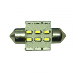 Festoon 31mm 12SMD 10-30v DC 0.7W Neutral White
