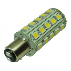 BA15D 30SMD 10-30V DC Tower 6W Warm White LED Bulb