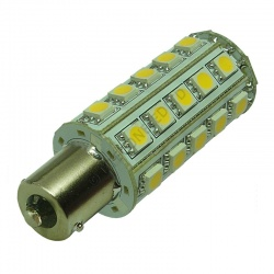 BA15S 30SMD 10-30V DC Tower 6W Warm White LED Bulb