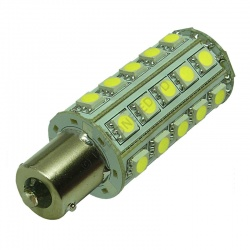 BA15S 30SMD 10-30V DC Tower 6W Cool White LED Bulb