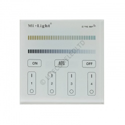Wall Mount T2 MiLight 2.4Ghz 4 Zone Colour Temperature Controller