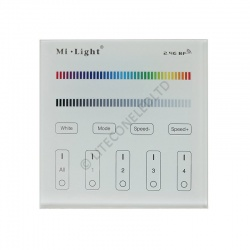 Wall Mount T3 MiLight 2.4Ghz 4 Zone RGB/W Controller